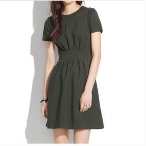 Madewell Parkline Olive Green Short Sleeve Dress